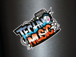Detalles De 1 X Adhesivo Techno Music Logo Electro Dj Tuning Shocker Fiesta Discoteca Sticker Ver Título Original