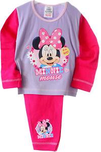 Details zu Pyjama Baby & Kinder Schlafanzug 80 86 92 98 104 Minnie Mouse Disney Anzug