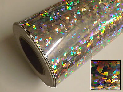 UBER-FILM ROLL OF HOLOGRAPHIC IRIDESCENT STICKY BACK PLASTIC SIGN VINYL SHEETING
