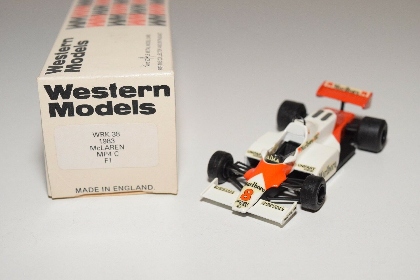I WESTERN MODELS WM WRK38 1983 MCLAREN MP4 C F1 RACING CAR MINT BOXED