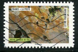 DéVoué France Autoadhesif Oblitere N° 1509 La Nature A L'oeuvre / Roche Chargee De Fer Bon Pour AntipyréTique Et Sucette De La Gorge