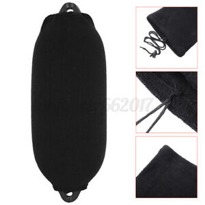 Boat-Inflatable-Fender-Covers-200X470mm-Quality-Boat-Fender-Sock-Protector-Black