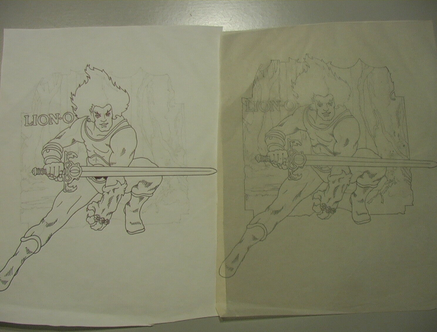 Thundercats VINTAGE 1985 Lion-O INDUSTRY INDUSTRY INDUSTRY Hand Traced Art 8.5
