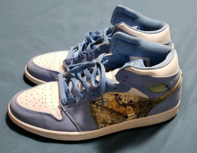 premium selection e9609 d69ff Nike Air Jordan I Retro 1 ALPHA UNC Carolina White UNIVERSITY BLUE Size 11.5