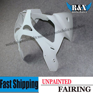 Unpainted-Front-Upper-Cowl-Cover-Fairing-Nose-For-Kawasaki-Ninja-ZX6R-2000-2002