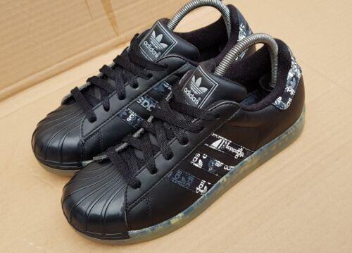 Adidas Superstar CLR Suela Zapatillas Negro Y Blanco Talla 5 Uk Excelente Estado
