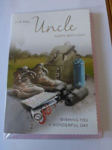 Uncle Birthday Card Walking Size 13cm x 19cm