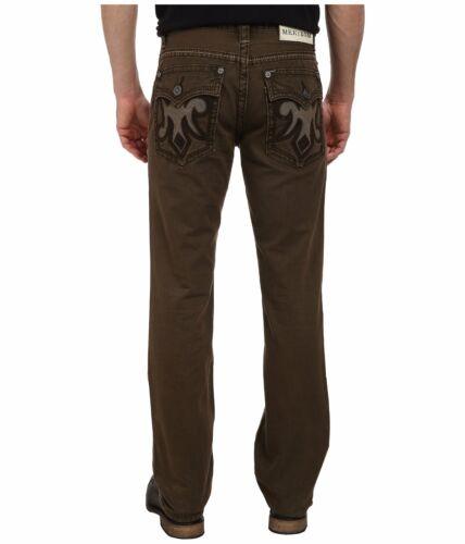 Vert Merritt Coupe Flap Mek Droite 42x34 Hommes Jeans Denim Pocket Taille Olive Hg1q4v