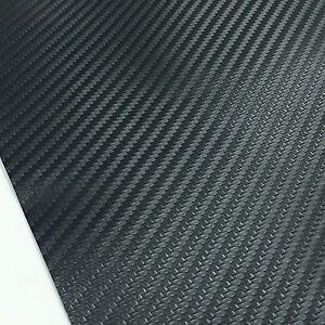 "3D Carbon Fiber Bubble Free Stretchable Car Vinyl Wrap 60/"" x 24/"" Silvery Gray"