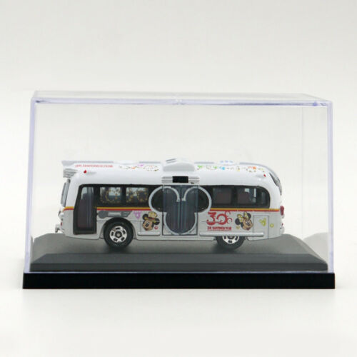 Clear Display Case For 1/64 Scale Car Black Base Dustproof Toy Diecast Model Box