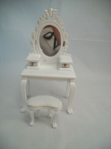 Bed Room Set T5669 Vanity Mirror 2 Beds dollhouse furniture 1//12 scale 6pc wood