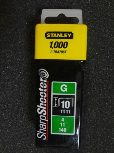 - 1-TRA706T Agrafes Stanley Agrafes Type Gramme 10mm 1000 Pièce