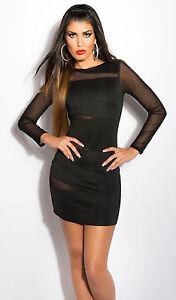 Das Bild wird geladen Kleid-Cocktailkleid-beige-schwarz-36-Partykleid- langarm-Minikleid- a3f9d55916