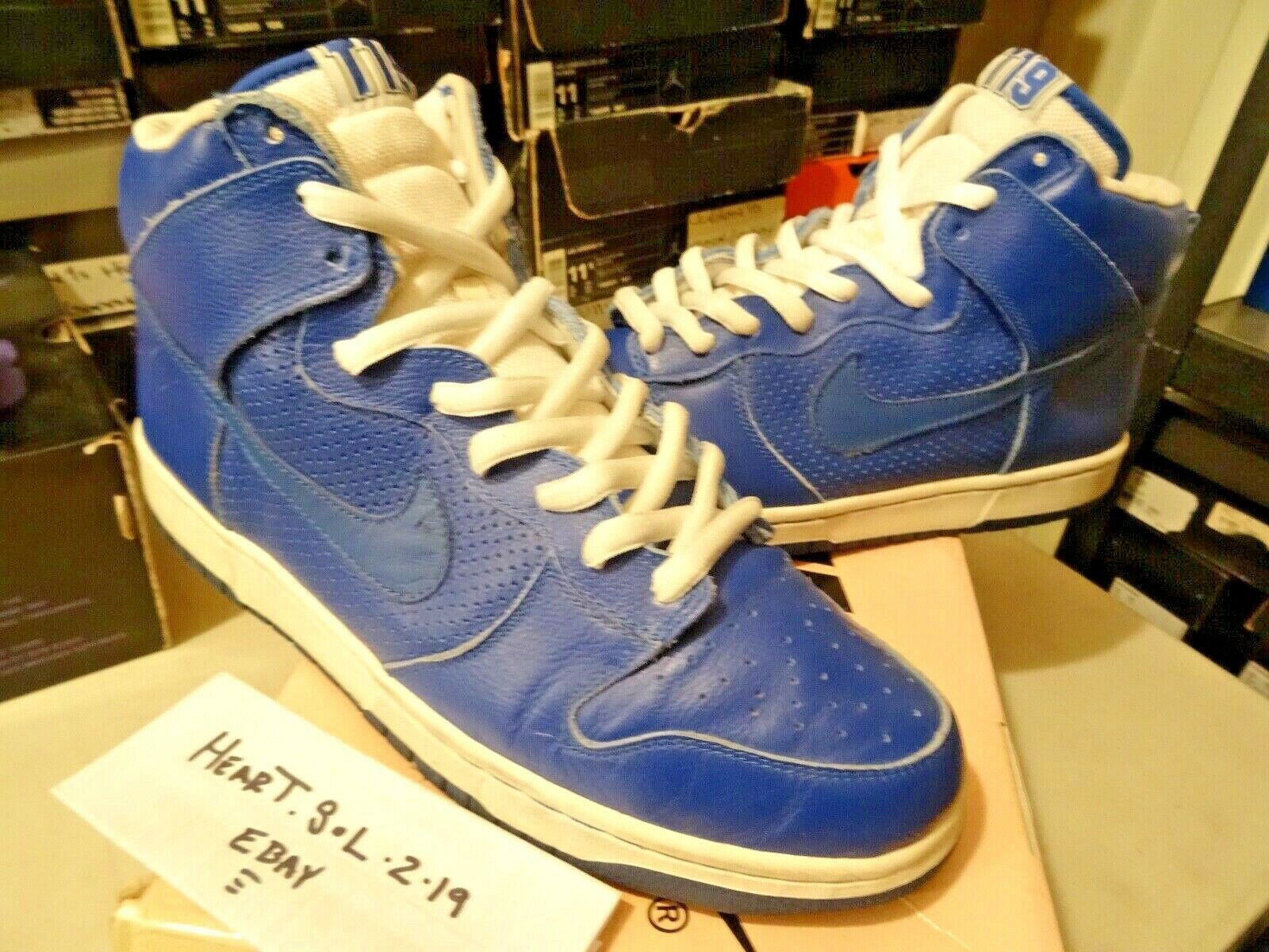 2005 NIKE DUNK HIGH PRO SB   T19 sport Royal bluee White   305050-441 SZ 13