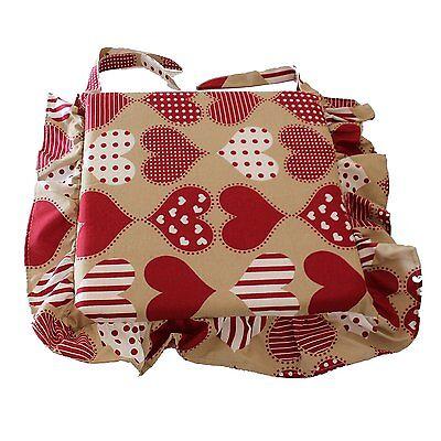 6 Cuscini sedia cuore rosso pois bianco con volant,trapuntato al centro 40x40 | eBay