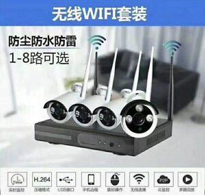 Wireless-720P-H-264-4CH-NVR-Kit-CCTV-System-With-4PCS-1200TVL-Wifi-P2P-IP-Camera