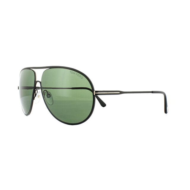 b362ca2b9a Tom Ford Men s Tf450 Cliff 02n Matte Black Green Aviator Sunglasses ...