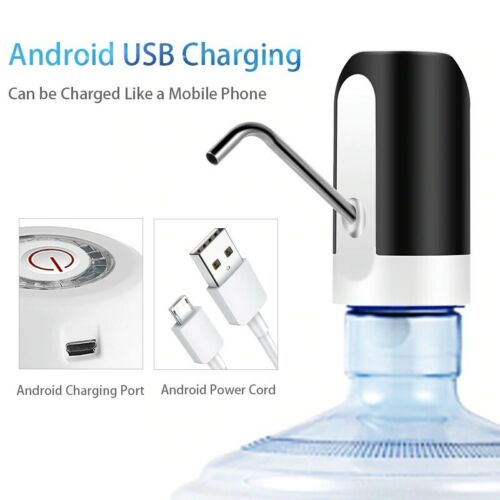 HiPiCok Water Bottle Pump USB Charging Automatic Electric Water Dispenser Pump