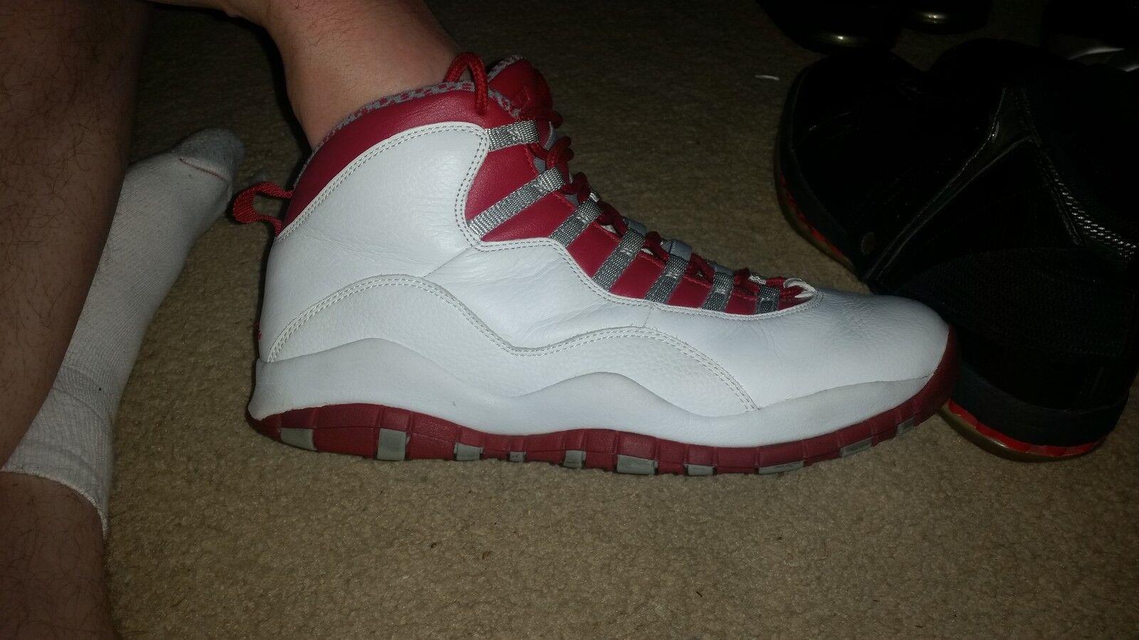 Air Jordan 10 Retro White Red 310805 161 Basketball Shoes US 12 Brand discount