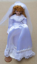 1:12 Victorian Porcelain Bride Doll House Miniature Bridal People Accessory J