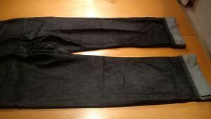 TOP-einmal-getragene-Jeans-Damen-schwarz-glanz-von-H-I-S-Gr-40-29-mit-Umschlag