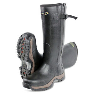 Dirt-Boot-Neoprene-Rubber-Wellington-Muck-Boot-Pro-Sport-Hunt-Zip-Black