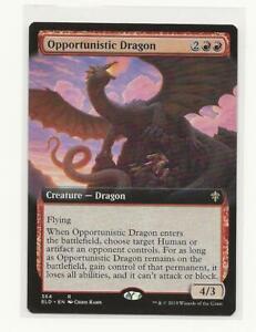 MTG x4 Opportunistic Dragon Throne of Eldraine RARE NM//M