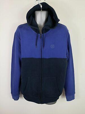 RüCksichtsvoll Mens Topman Navy Blue Jumper Long Sleeved Zip Up Hoodie Jacket Size L Large So Effektiv Wie Eine Fee Pullover & Strick