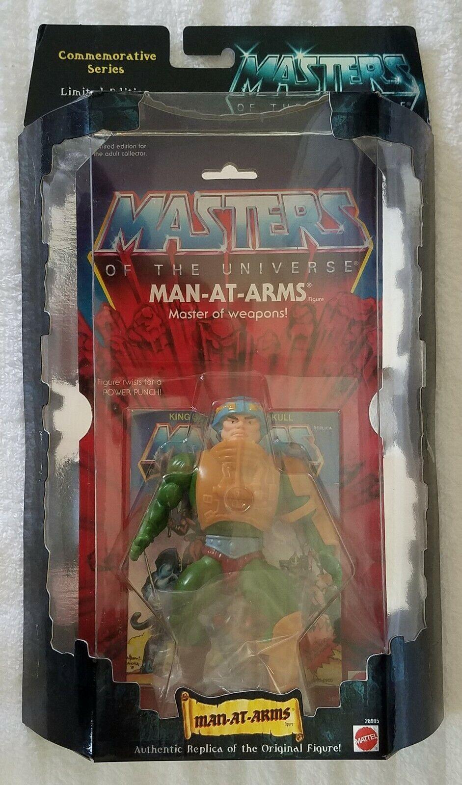 MASTERS OF THE UNIVERSE MAN-AT-ARMS MAN-AT-ARMS MAN-AT-ARMS MASTER OF WEAPONS COMMEMORATIVE SERIES 4d0436