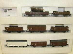 Roco-H0-44006-Gueterwagen-Set-der-OBB-8-teilig-NEU-OVP