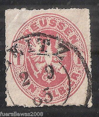 Preußen MiNr 16 1 Silber Groschen Adler im Oval Zweikreisstempel GREITZ 2 9 65