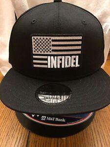 a392c4b6981d4 New Era NE400 Black Snapback Flat Bill Cap w  Black White American ...