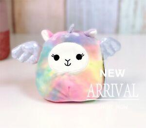 """KellyToy Squishmallow 5"""" Lucy May Tie Dye Llama Pegacorn Llamacorn LT ED NEW Toy"""