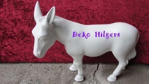 Esel Figur Tierfigur Gartenfigur Deko Skulptur Garten Dekofigur Tiere Rohling