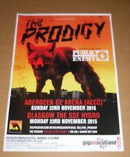 THE PRODIGY  - rare live tour concert / gig poster - nov 2015 Public Enemy