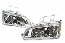 92-95 Honda Civic Chrome Glass Head lights w/City Light 9003/H4 2/3/4 EG EJ EH