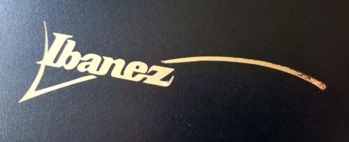 sticker Ibanez GOLD mirrore guitar headstock replacement decal