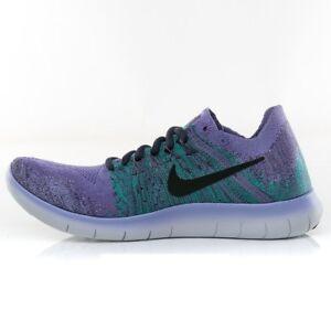 Nike-WMNS-Free-RN-Flyknit-2017-Size-8-5-US-Purple-Women-s-Running-Shoes