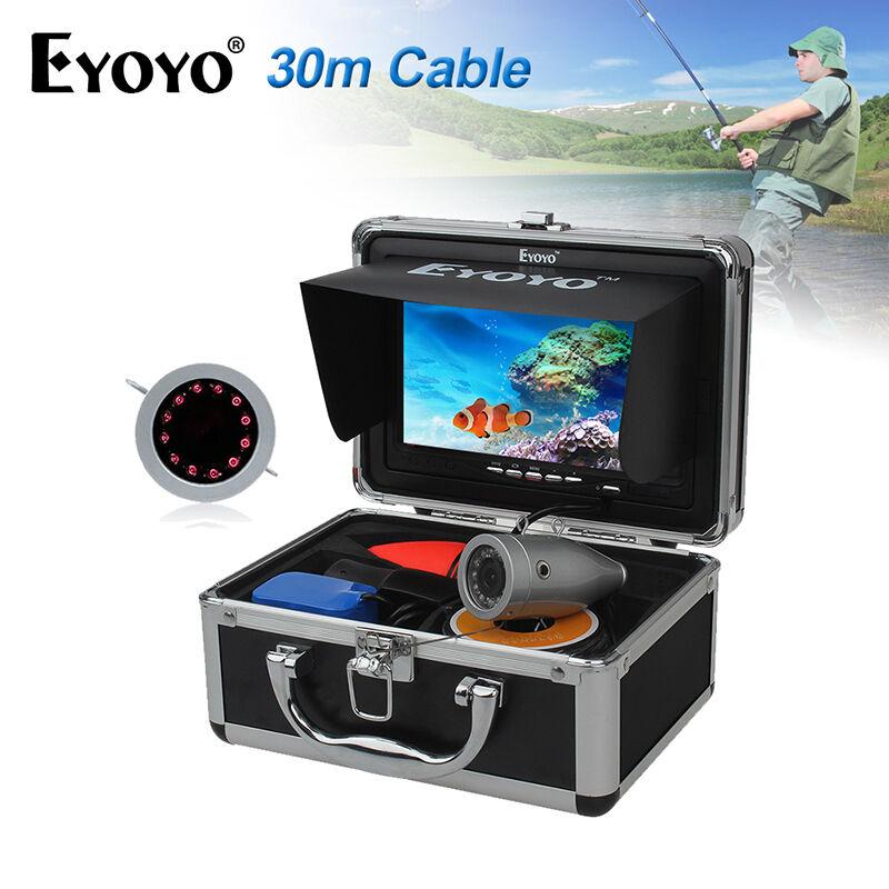 Eyoyo 30m Fish Finder pesca subacquea fotocamera LCD 7 a infrarossi IR notte F1