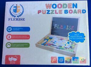 Educational Wooden Puzzle Board By Flerise Stimulate Creativity Intelligence Avoir Une Longue Position Historique