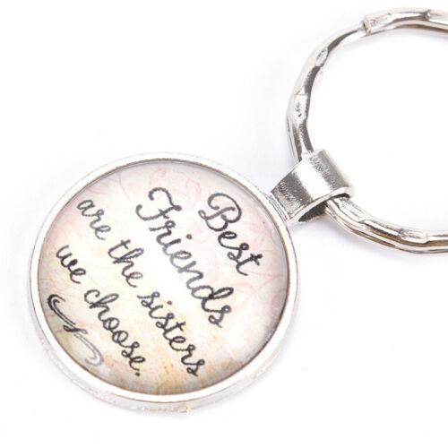 Best Friends Keychain Freundschaft Schmuck Metall Anhänger SchlüsselanhängerTYD
