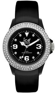 Details about Ice-Watch Stone Tycoon Swarovski Black Polyamide Steel Strap  watch ST.BS.U.L.10