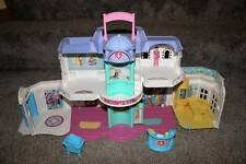 Fisher Price Sweet Streets Hospital Doll Toy Baby Bassinet Desk Set Lot RARE