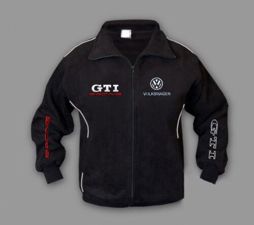 Neu Herren Sport Volkswagen GTI Fleece Jacke Fan Bekleidung Stickerei