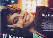 Tia97 Clipping-Ritaglio 2012 Alicia Keys Il Karma della carta di credito