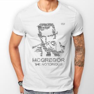 T-Shirts /& Sweats à capuche unisexe Conor McGregor UFC//Memorabilia Freepost UK Blanc