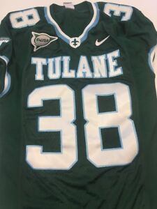 low priced cfac0 6d8fb Details about Game Worn Used Nike Tulane Green Wave Football Jersey Size  Medium #38