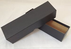 Coin-Storage-Box-Strong-amp-Rigid-Cardboard-Black-x2