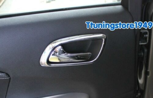 Chrome window Switch panle handle frame cover trim For Dodge Journey 2012-2017
