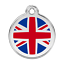 ENGRAVED-DOG-ID-TAG-DISCS-Flag-UK-USA-Canada-Germany-Italy-Red-Dingo thumbnail 5